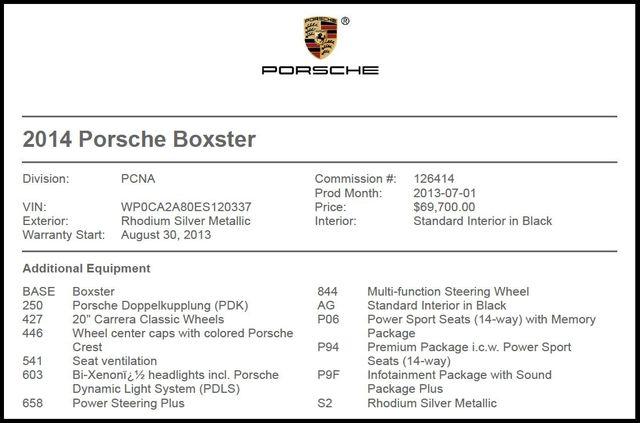 2014 Porsche Boxster in Carrollton TX
