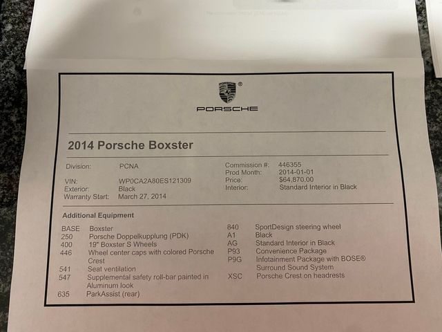 2014 Porsche Boxster Longwood, FL 50