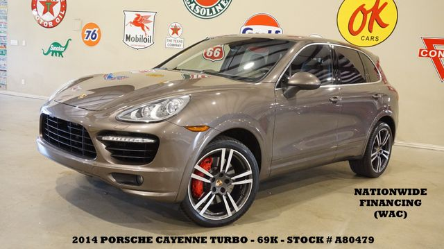 2014 Porsche Cayenne Turbo AWD ROOF,NAV,BACK-UP,HTD/COOL LTH,21'S,69K