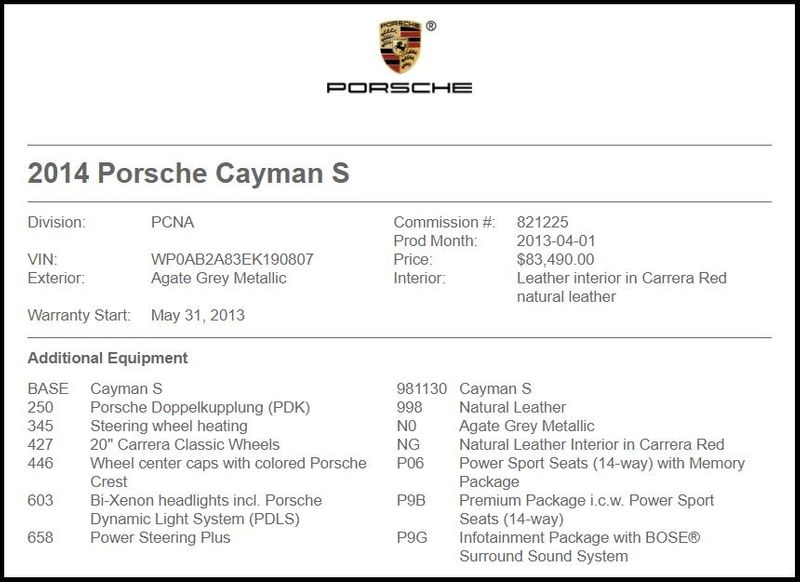 2014 Porsche Cayman S in Carrollton, TX