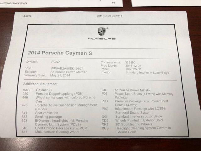 2014 Porsche Cayman S Longwood, FL 33