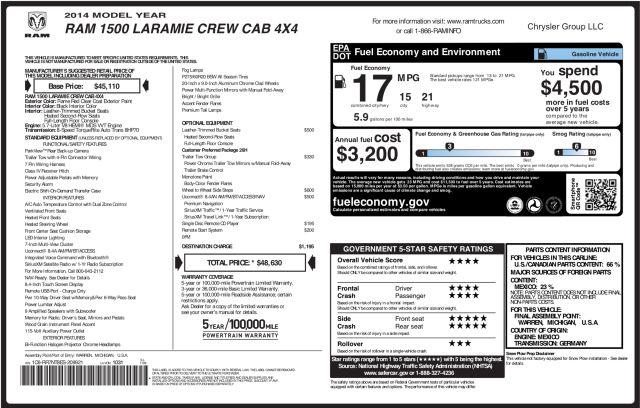 2014 Ram 1500 Laramie 4X4 in Addison, Texas 75001
