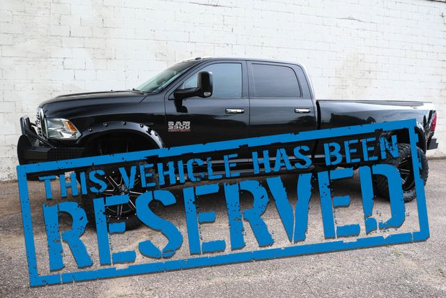 """2014 Ram 3500 Crew Cab Dually Cummins Diesel with 22"""" Wheels & 37"""" Tires, Flares & HD Bumpers"""