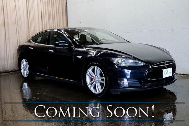 2014 Tesla Model S P85D AWD 100% Electric Luxury Car w/Auto Pilot, Panoramic Roof & Premium Audio