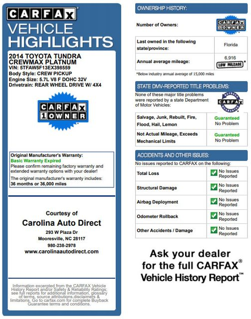 2014 Toyota Tundra 1794 CrewMax 4x4 - LIFTED - EXTRA$ - BLIND SPOT! Mooresville , NC 3