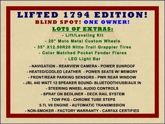 2014 Toyota Tundra 1794 CrewMax 4x4 - LIFTED - EXTRA$ - BLIND SPOT! Mooresville , NC 1