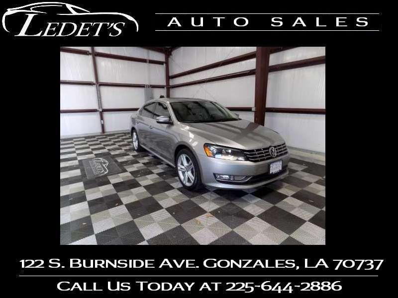 2014 Volkswagen Passat TDI SE w/Sunroof & Nav - Ledet's Auto Sales Gonzales_state_zip in Gonzales Louisiana