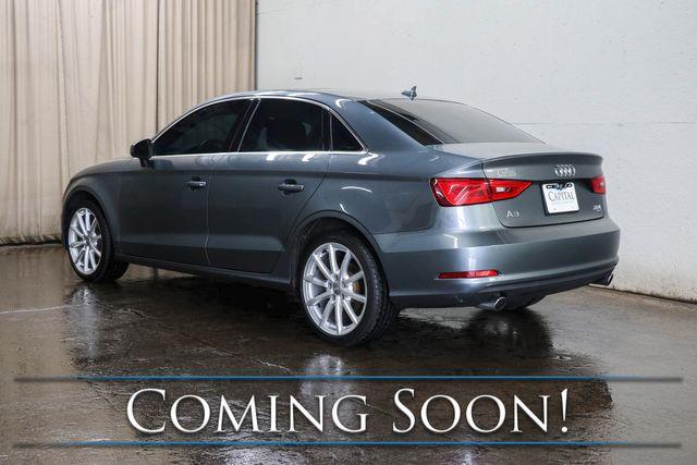 2015 Audi A3 Premium Plus 2.0T Quattro AWD w/Nav, Heated Seats, Moonroof, Keyless Start & B.T. Audio in Eau Claire, Wisconsin 54703