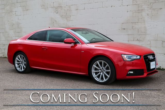 2015 Audi A5 Coupe 2.0T w/Quattro AWD, Premium Plus Pkg, Panoramic Roof, Heated Seats and Keyless Start