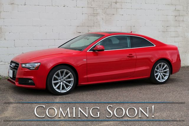 2015 Audi A5 Coupe 2.0T w/Quattro AWD, Premium Plus Pkg, Panoramic Roof, Heated Seats and Keyless Start in Eau Claire, Wisconsin 54703