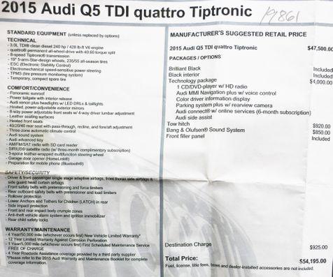 2015 Audi Q5 TDI Quattro in Alexandria, VA