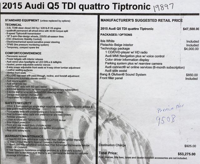 2015 Audi Q5 TDI Quattro in Alexandria VA