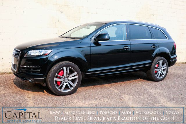 2015 Audi Q7 3.0T Premium Plus Quattro AWD SUV w/3rd Row Seats, Nav, Backup Cam, Panoramic Roof & Tow Pkg