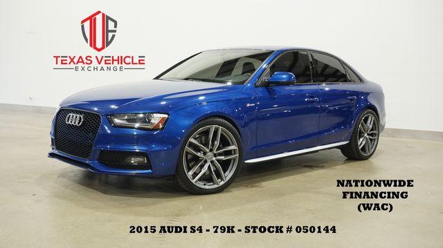 2015 Audi S4 Premium Plus ROOF,NAV,BACK-UP,HTD LTH,B&O SYS,79K