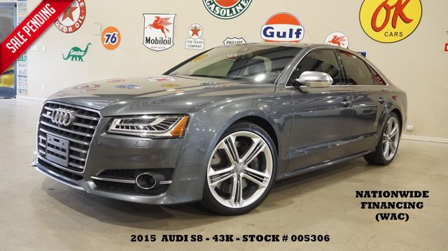 2015 Audi S8 Quattro HUD,ROOF,NAV,BACK-UP,360 CAM,HTD/COOL LTH,43K