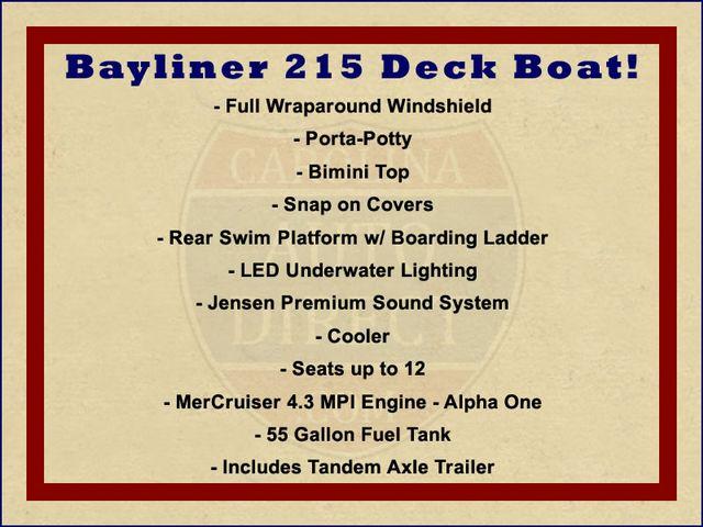 2015 Bayliner 215 Deck Boat Mooresville , NC 1