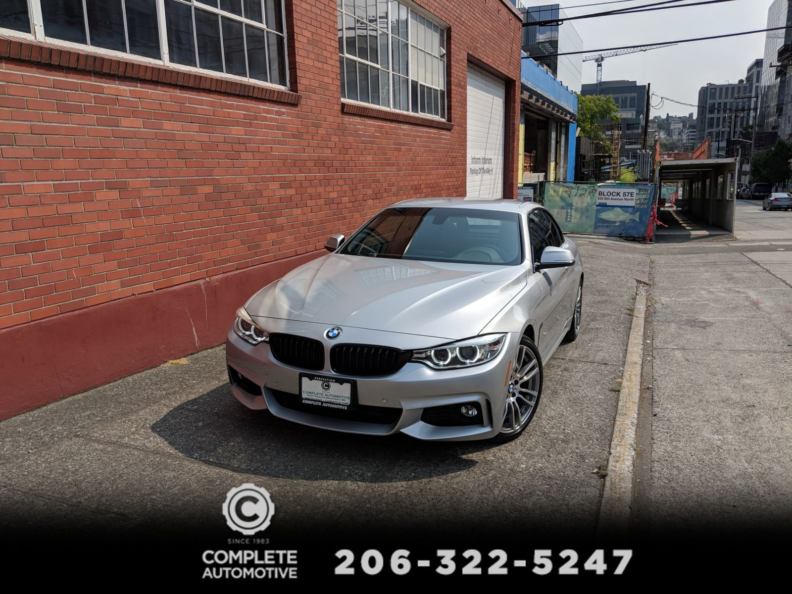 2015 BMW 428i Convertible M Sport Driving Assist Premium Packages Navi Rear Camera Heated Seats Xenons