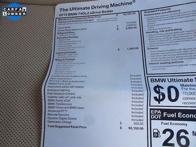 2015 BMW 740Ld xDrive 740Ld xDrive Madison, NC 60
