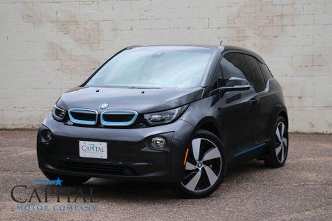 2015 BMW i3 EV w/Range Extender, Tech + Driving Assist Pkg, Navigation, Backup Cam & Premium Audio in Eau Claire