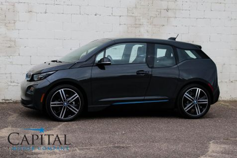 2015 BMW i3 Tera World EV w/Range Extender, Tech + Driving Assist Pkg, Heated Seats, LED Lights & 20