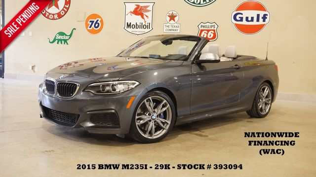 2015 BMW M235i Conv. PWR TOP,NAV,HTD LTH,H/K SYS,29K,WE FINANCE