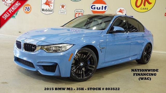 2015 BMW M3 Sedan AUTO,CARBON ROOF,NAV,HTD LTH,H/K SYS,35K