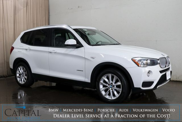 2015 BMW X3 xDrive28i AWD Crossover w/Nav, Panoramic Moonroof, Comfort Access and Bluetooth Audio