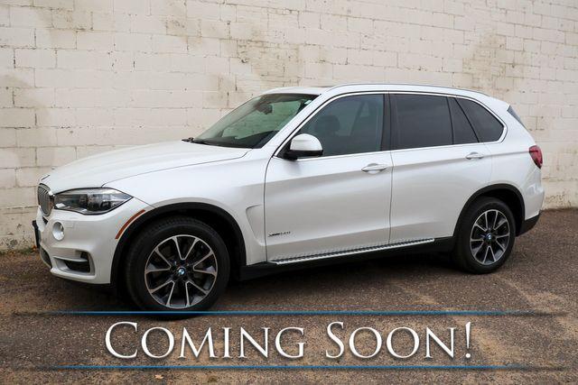2015 BMW X5 xDrive50i AWD V8 Sport SUV w/Nav, 360º Camera, Heated/Cooled Seats, Exec Pkg & Premium Audio Pkg