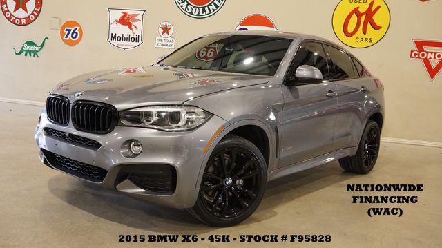 2015 BMW X6 xDrive 35i HUD,SUNROOF,NAV,360 CAM,HTD LTH,BLK 20'S,45K