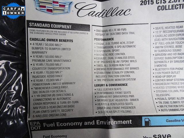 2015 Cadillac CTS Sedan Premium RWD Madison, NC 60