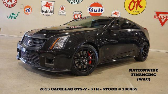 2015 Cadillac CTS-V Coupe AUTO,MOTOR MODS,ROOF,NAV,BACK-UP,RECARO,51K