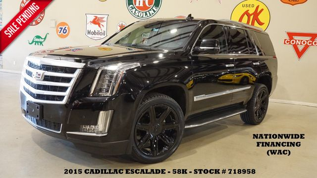 2015 Cadillac Escalade Luxury HUD,ROOF,NAV,360 CAM,REAR DVD,BLK 22'S,58K