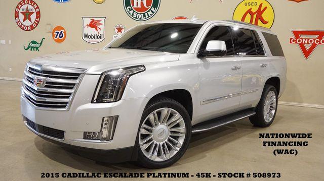 2015 Cadillac Escalade Platinum 4WD HUD,ROOF,NAV,360 CAM,REAR DVD,45K