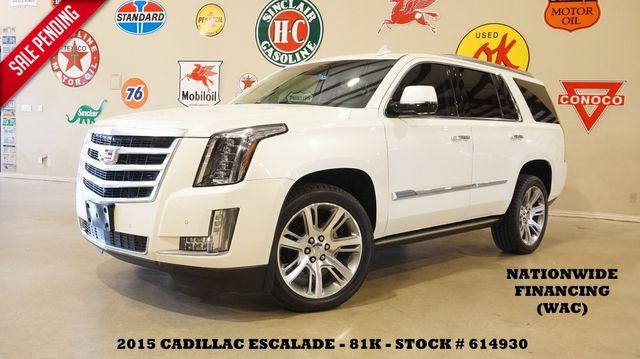 2015 Cadillac Escalade Premium 4WD HUD,ROOF,NAV,360 CAM,REAR DVD,82K