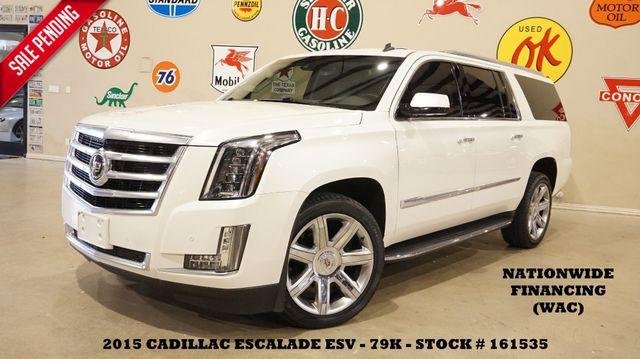 2015 Cadillac Escalade ESV Premium 4WD HUD,ROOF,NAV,REAR DVD,22'S,79K