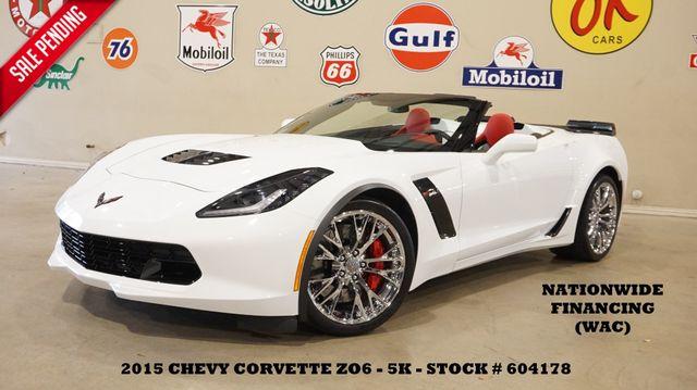 2015 Chevrolet Corvette Z06 3LZ CONV. AUTO,HUD,NAV,CHROME WHLS,5K in Carrollton, TX 75006