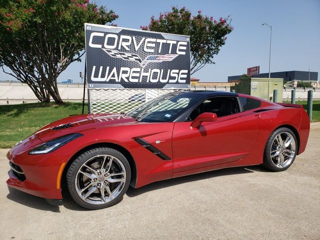 2015 Chevrolet Corvette Coupe Z51, 2LT, NAV, Auto, Glass Top, Chromes 28k in Dallas, Texas 75220