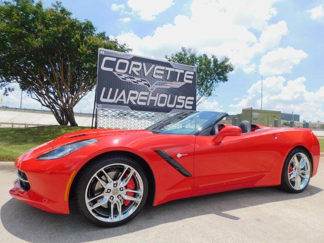 2015 Chevrolet Corvette CONV Z51, 3LT, NAV, NPP, PDR, Auto, Chromes 9k
