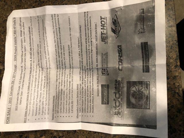 2015 Chevrolet Corvette Z06 3LZ Sema Houston, Texas 34