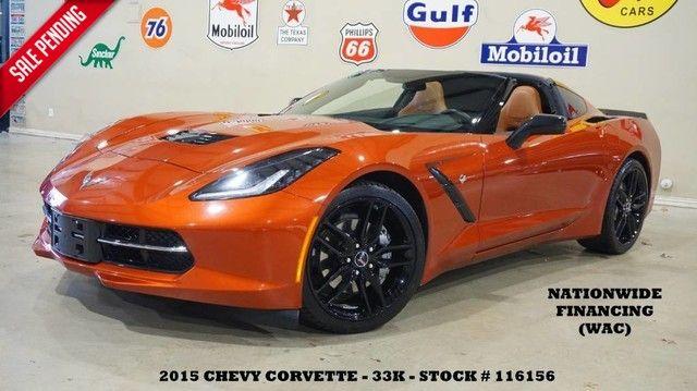 2015 Chevrolet Corvette Stingray Coupe 2LT AUTO,HUD,NAV,HTD/COOL LTH,BLK WHLS,33K!