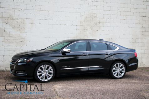 2015 Chevrolet Impala LTZ with Touchscreen Navigation Backup Cam Heated/Cooled Seats Panoramic Roof & 20