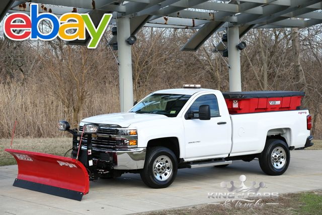 2015 Chevrolet Silverado 3500HD Built After Aug 14 Work Truck BOSS PLOW / SALT SPREADER LIKE NEW