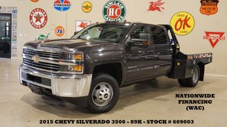 2015 Chevrolet Silverado 3500HD Chassis 4X4 DIESEL,MONROE FLATBED,89K in Carrollton, TX 75006