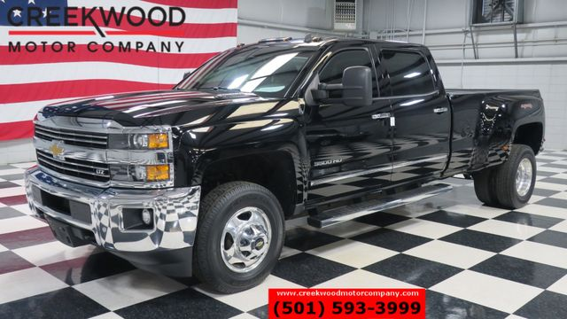 2015 Chevrolet Silverado 3500HD LTZ 4x4 Diesel Dually Black Leather Htd Nav Chrome