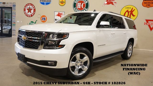 2015 Chevrolet Suburban LT BACK-UP CAM,HTD LTH,QUADS,20'S,44K,WE FINANCE