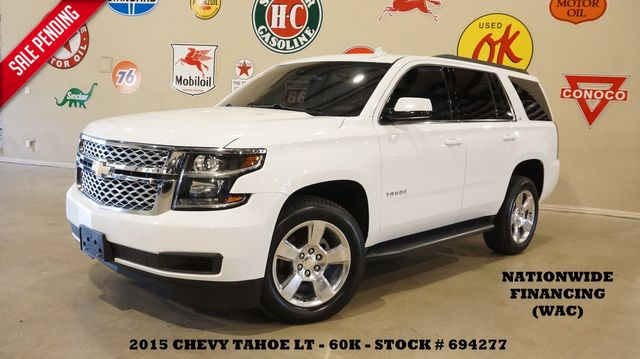 2015 Chevrolet Tahoe LT 4X4 NAV,BACK-UP CAM,HTD LTH,QUADS,20'S,60K