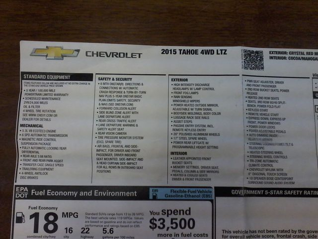 2015 Chevrolet Tahoe LTZ San Antonio, Texas 38