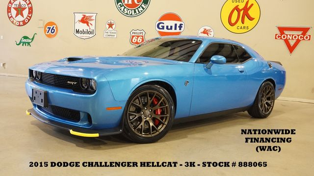 2015 Dodge Challenger SRT Hellcat 6 SPD,NAV,HTD/COOL LTH,3K,WE FINANCE in Carrollton, TX 75006
