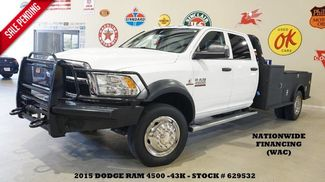 2015 Dodge RAM 4500 CHASSIS Tradesman 4X4 AISIN AUTO,CM ULTILTY FLAT BED,43K! in Carrollton TX, 75006