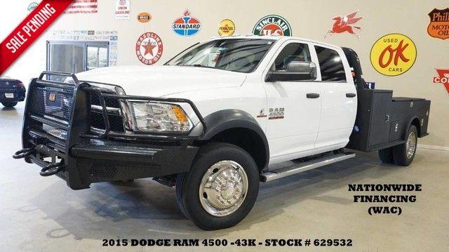 2015 Dodge RAM 4500 CHASSIS Tradesman 4X4 AISIN AUTO,CM ULTILTY FLAT BED,43K!
